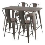 LumiSource Oregon Table With 4 Stools