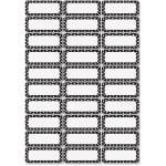 Ashley Dry Erase BlackWhite Dots Nameplate