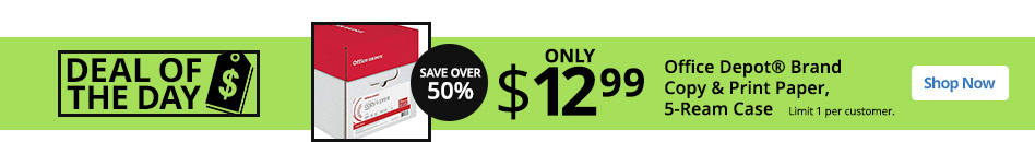 deal of the day 1299 office depot brand paper