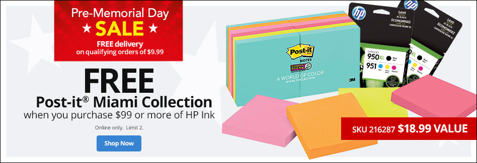 Free Post-It Miami Collection - Free Delivery