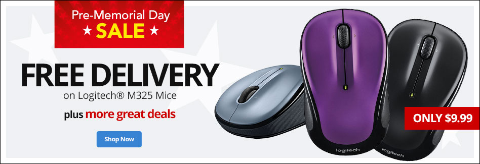 Free Delivery on Logitech Mice