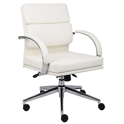 840057 - Boss® Caressoft Plus Mid-Back Executive Chair