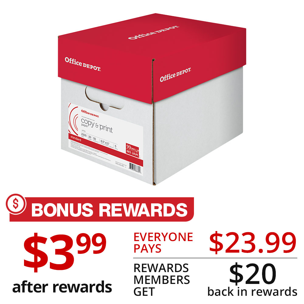 Office depot services register new product - Office Depot Brand Copy Print Paper