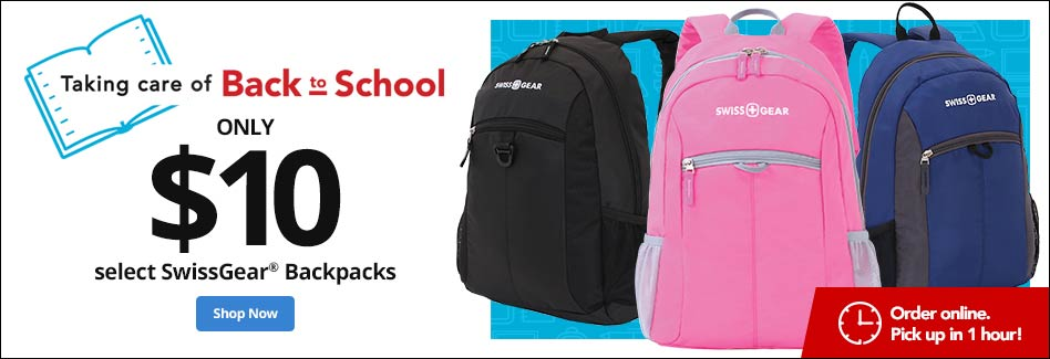 Only $10 Select SwissGear Backpacks