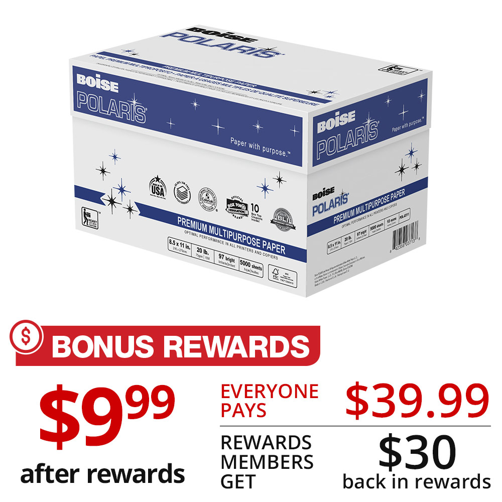Bonus Rewards - Boise Polaris 10-ream