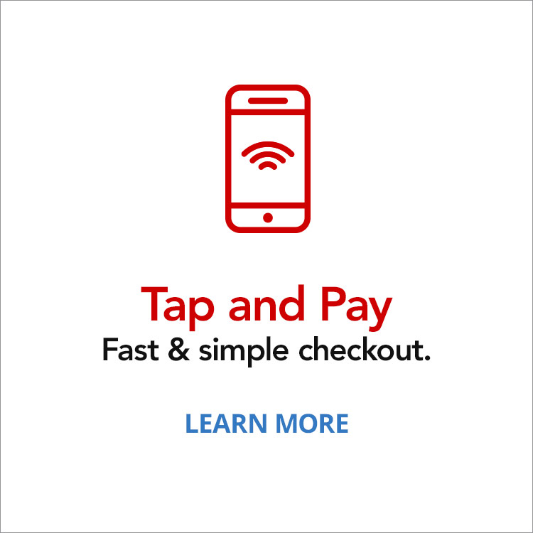 Tap and Pay. Fast & simple checkout