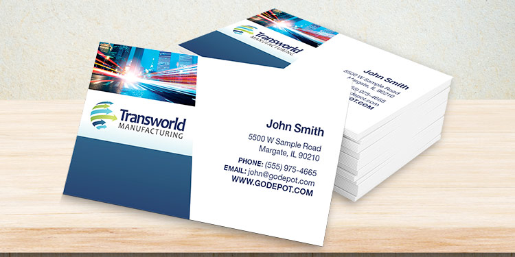 Business cards at office depot officemax premium full color standard business cards reheart Image collections