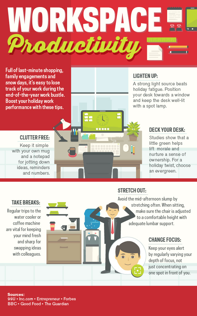 Holiday Workspace Productivity [Infographic]