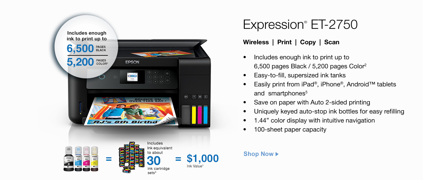 Color printing office depot - Expression Et 2750