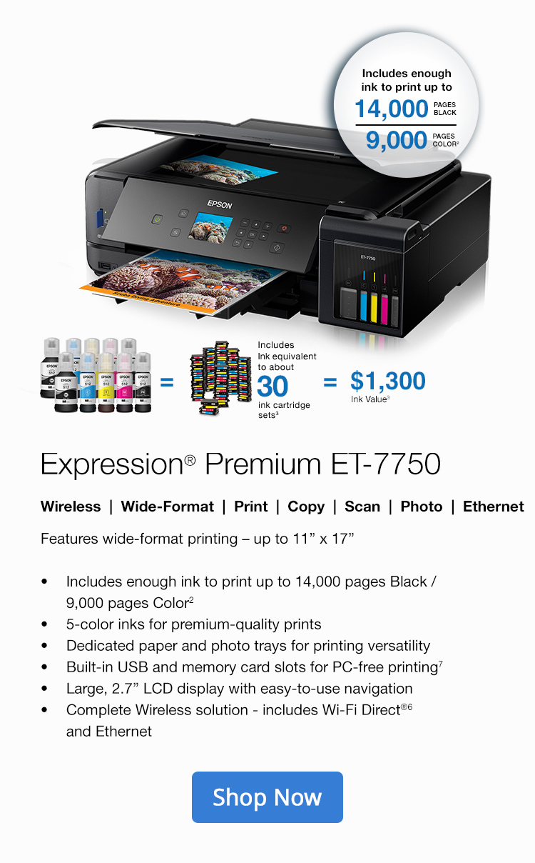 Color printing office depot - Expression Premium Et 7750