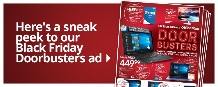 Here's a sneak peek to our Black Friday Doorbusters ad