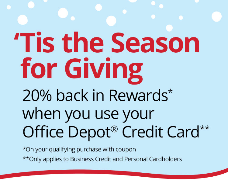 'Tis the Season for Giving - 20% back in rewards