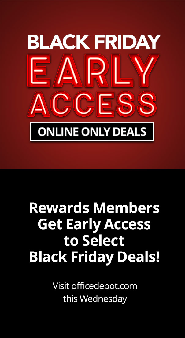 Black Friday Doorbusters: Rewards Members Get Early Access to Select Black Friday Deals!