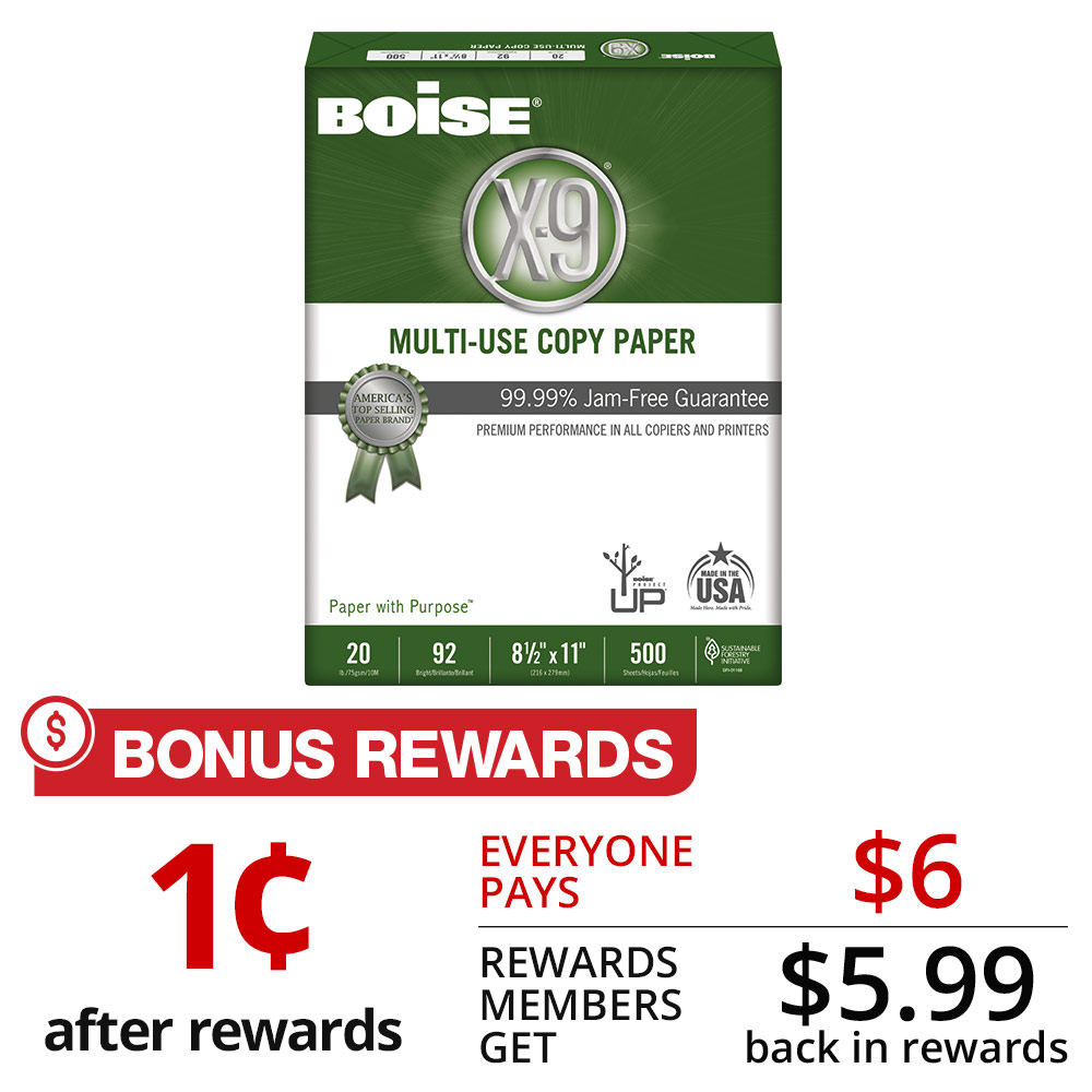 Boise® X-9® Multi-Use Copy Paper