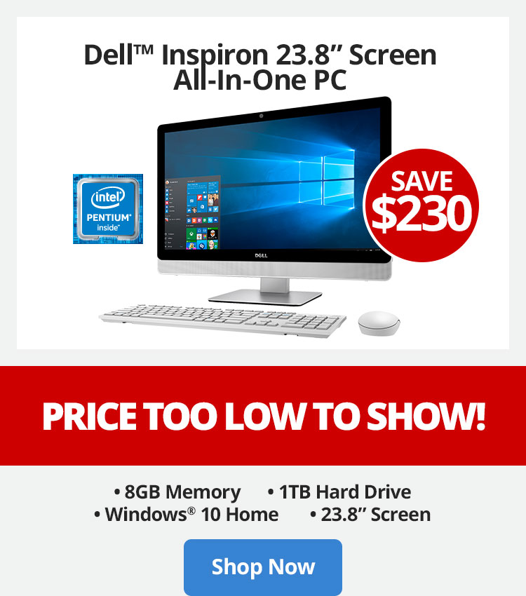 Save $230 Dell Inspiron All-In-One PC - Price Too Low To Show