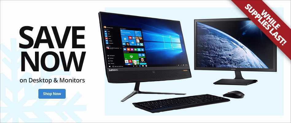 Save Now on Desktop and Monitors