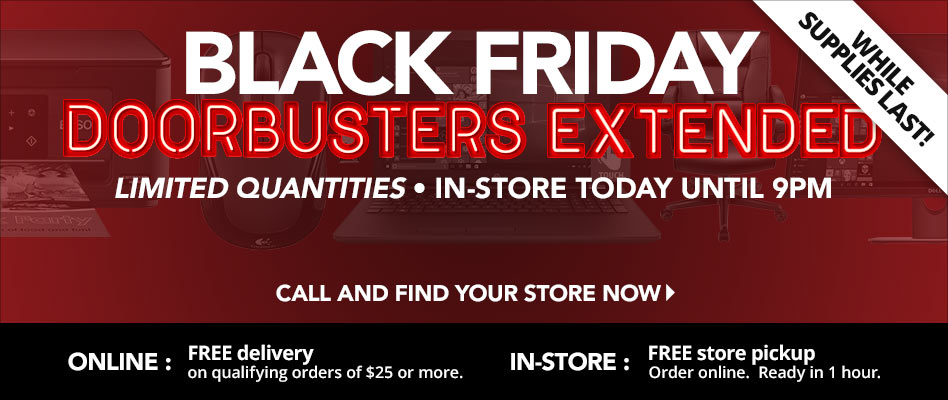 Black Friday Doorbusters Extended