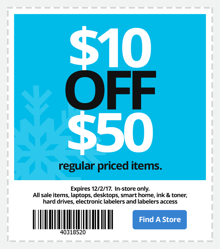office depot in store coupons 10 off 50