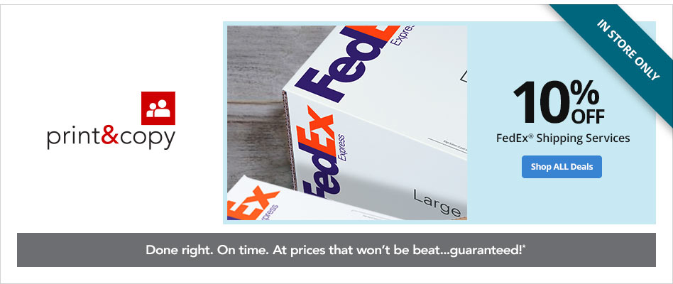 In Store Only- 10% Off FedEx Shipping Services