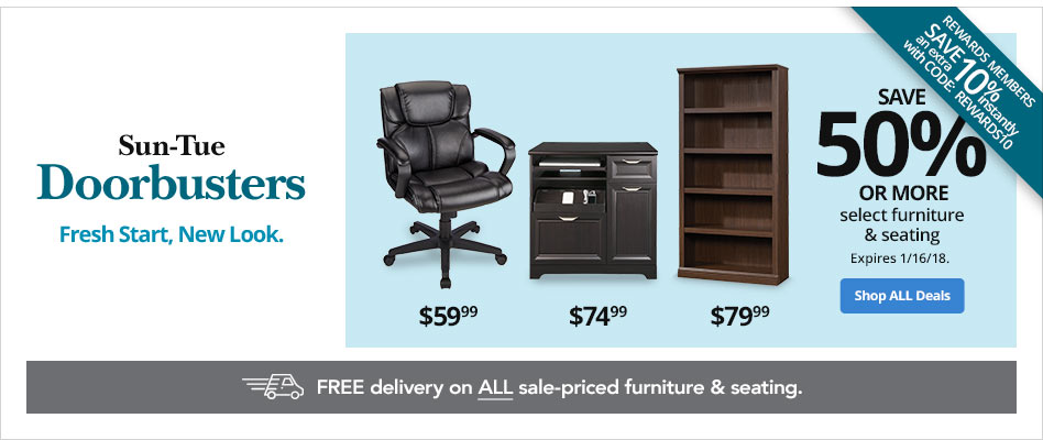 Save 50% or More on Select Furniture & Seating