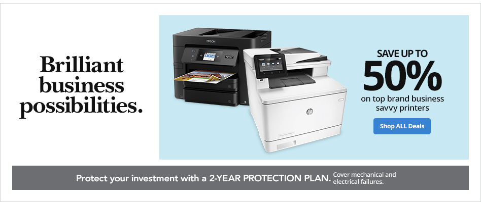 Save up to 50% on Top Brand Business Savvy Printers