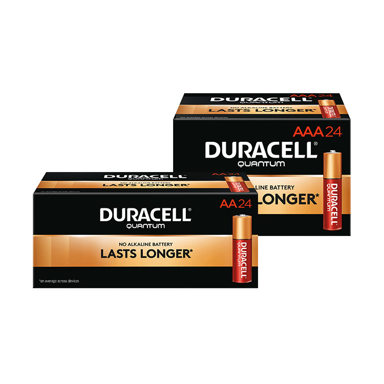 50% back in Rewards Duracell Quantum Batteries, AA or AAA, 24Pk Batteries