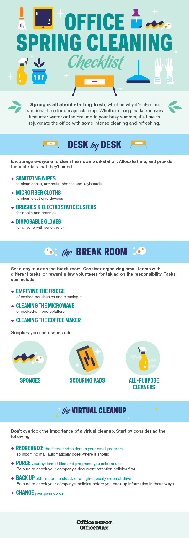 Office Spring Cleaning Checklist [Infographic]