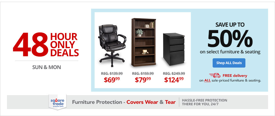 Save up to 50% on Select Furniture & Seating