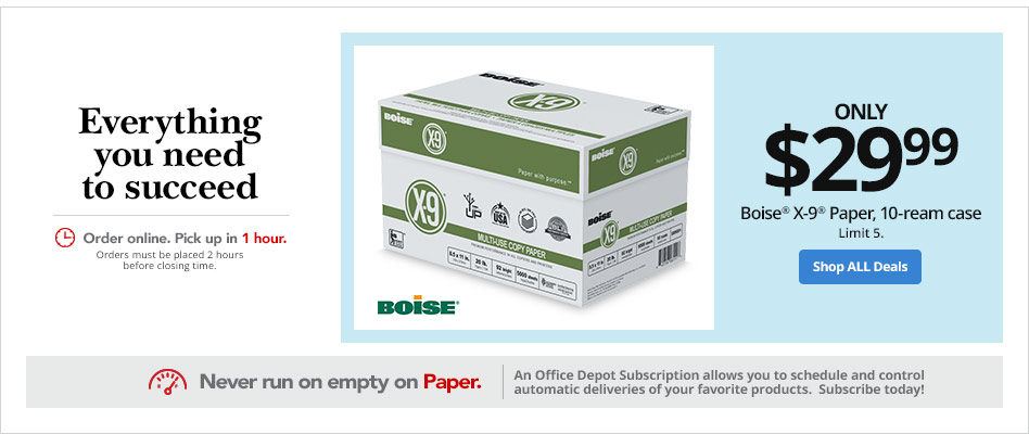 Only $29.99- Boise X-9 Paper, 10-ream case paper