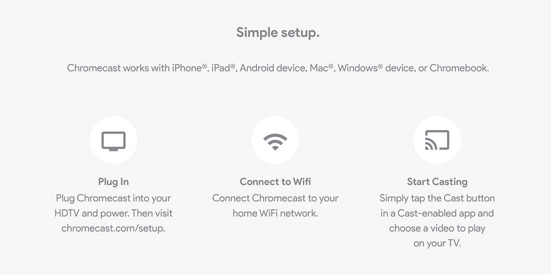 Google Chromecast Simple Setup
