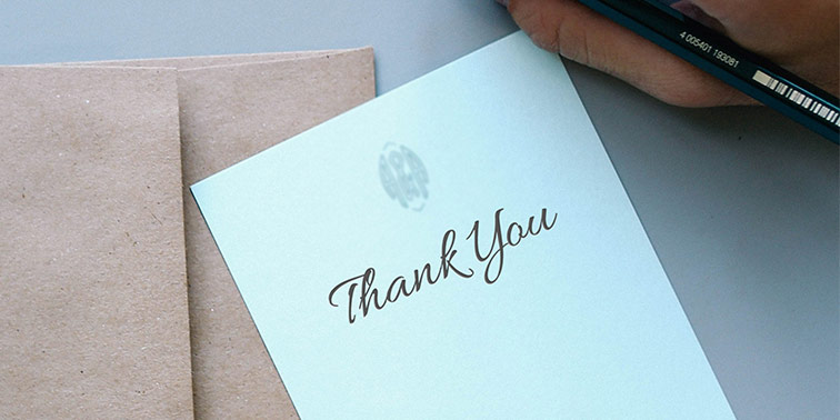 You Can Never Go Wrong With a Thank You Note