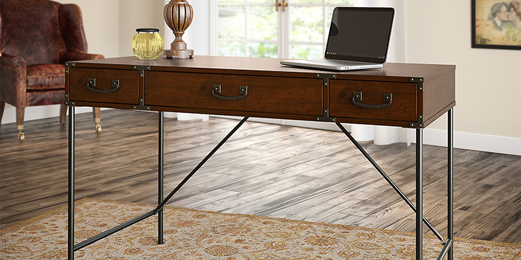 Kathy Ireland Writing Desk by Bush Furniture Ironworks