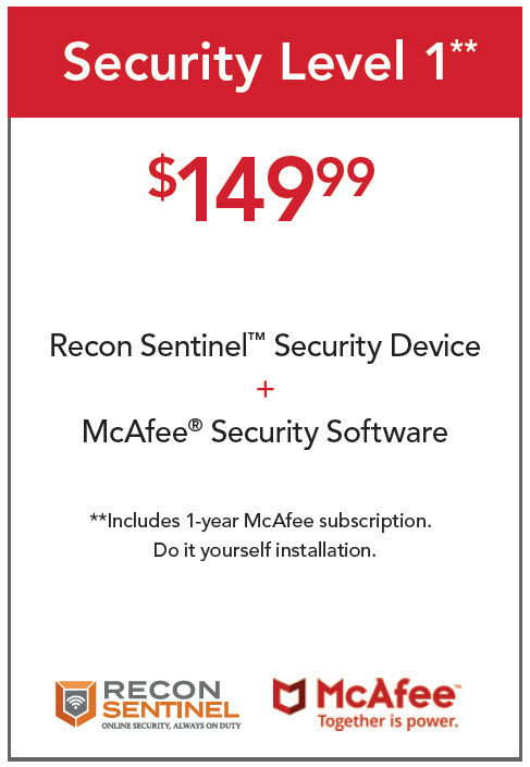 Recon Sentinel plus McAfee Security Software