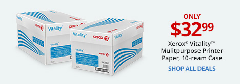 Xerox Vitality Multipurpose Printer Paper, 10-ream Case only $32.99
