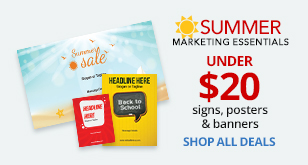 Summer Marketing Essentials under $20, Signs, Posters & Banners