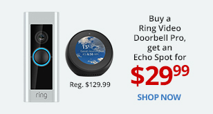 Buy a Ring Video Doorbell Pro, get an Echo Spot for $29.99