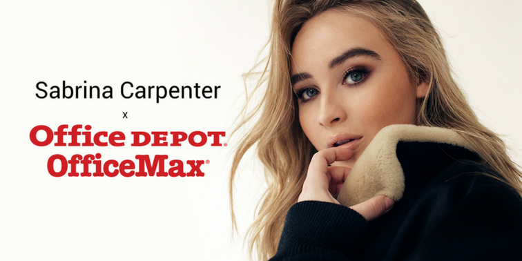 Sabrina Carpenter at Office Depot® and OfficeMax®