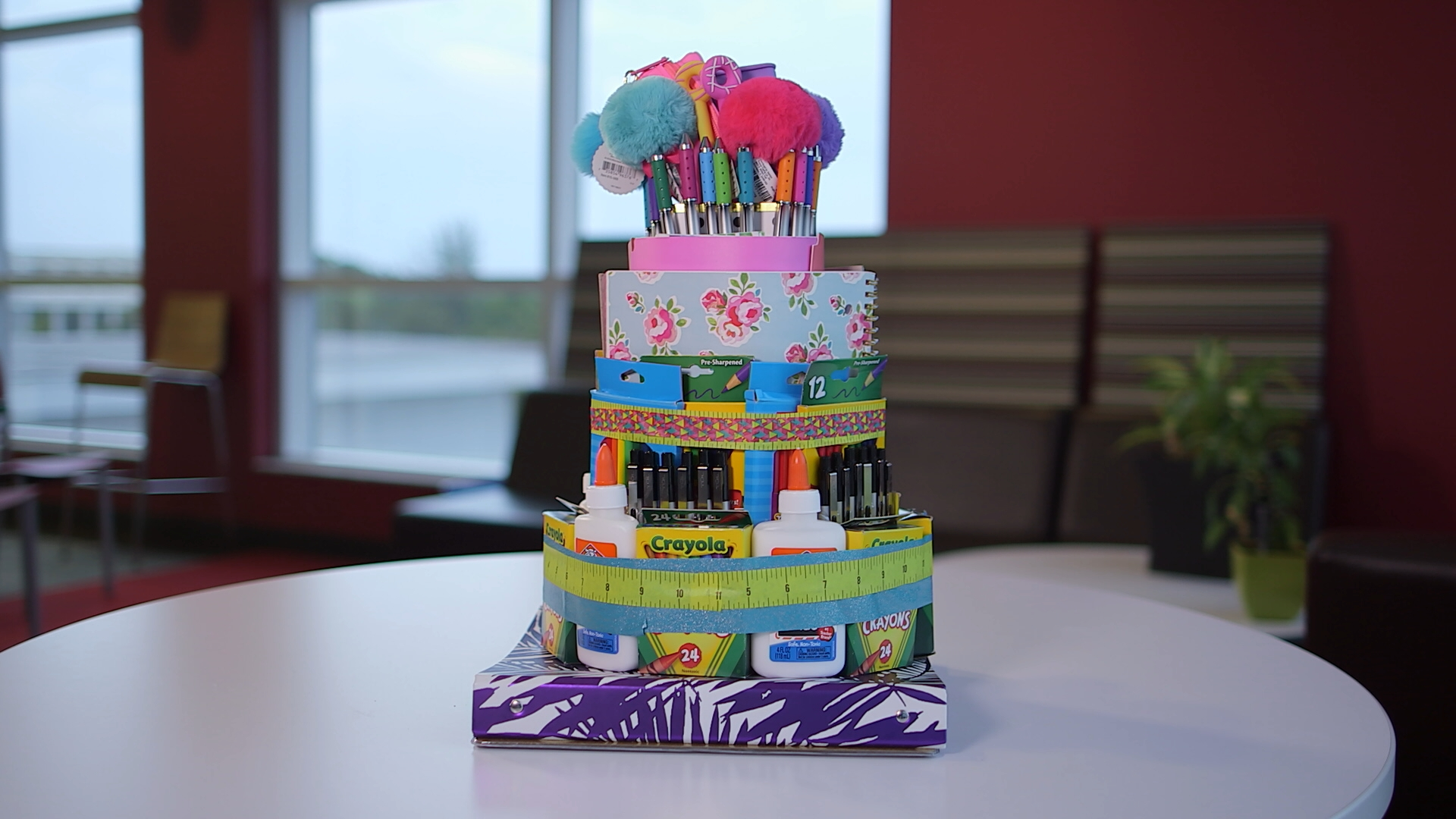 Finished School Supply Cake