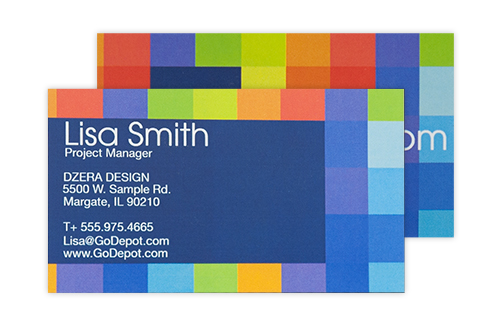 Business cards high quality cards office depot officemax standard business cards reheart Images