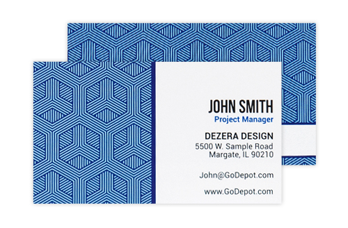 Business cards high quality cards office depot officemax new content item raised print business cards reheart Images