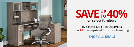 Save Up to 40% On Select Furniture & Seating