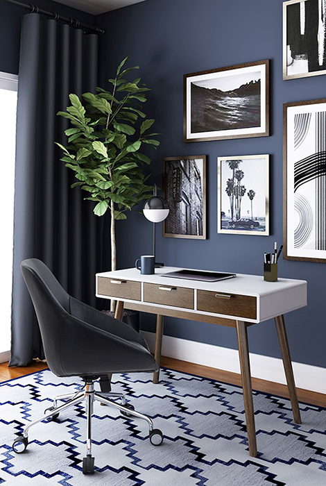 Elle Decor Stara Desk & Leather Task Chair