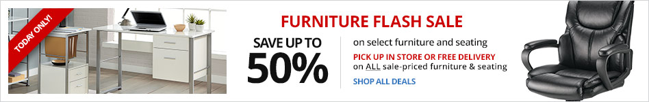 Furniture Flash Sale- Today Only- Save Up To 50% on Select Furniture & Seating