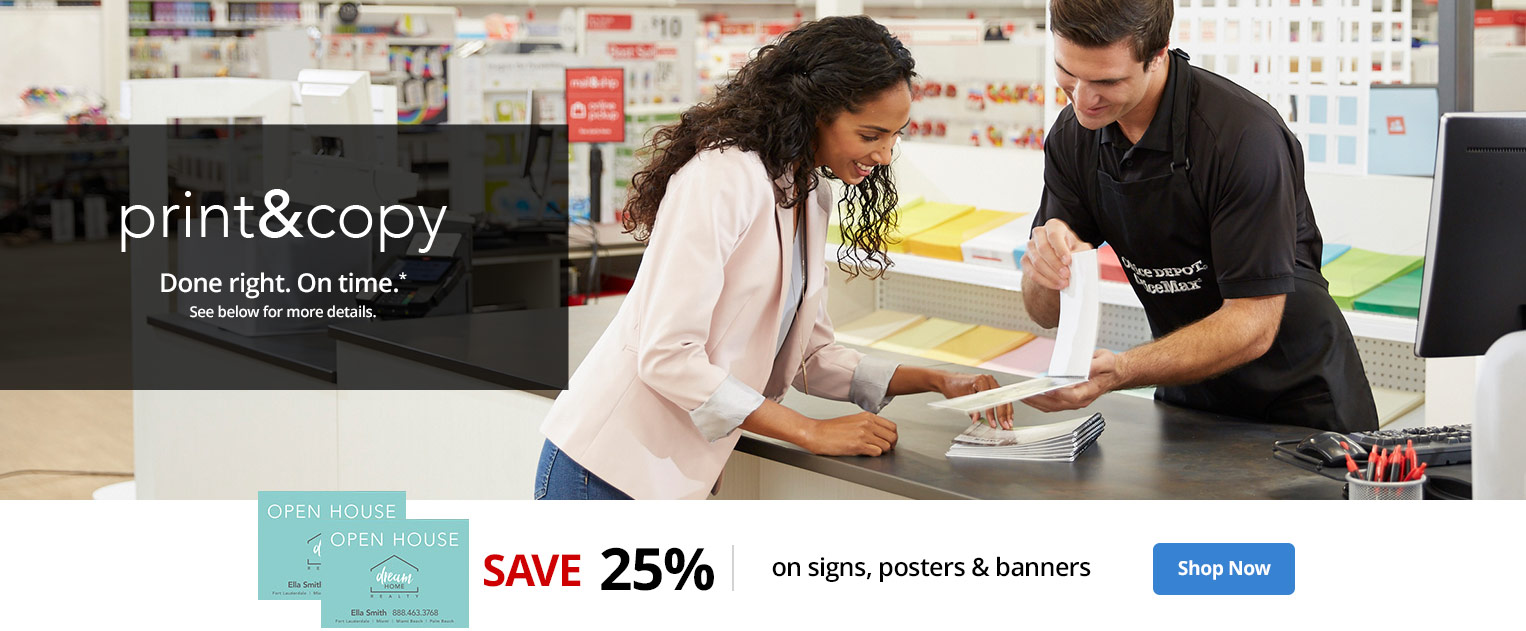 25% off signs, posters & banners