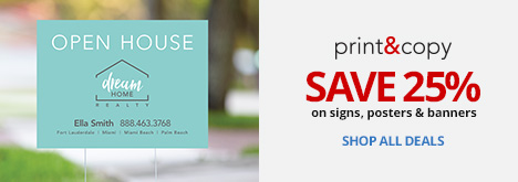 Save 25% On Signs, Posters & Banners