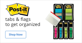 Post It Tabs & Flags to get organized