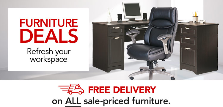 Furniture Deals- Refresh Your Workspace and Save- PLUS Free Delivery on ALL sale-priced furniture & seating