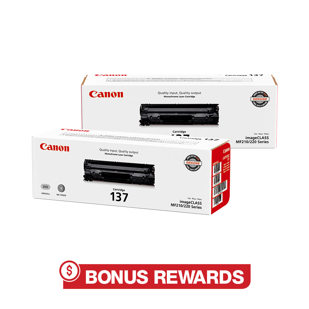 10% Back in Rewards on 2 Canon Toners