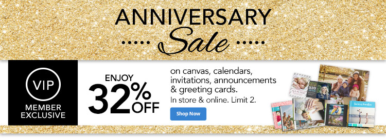 VIP Exclusive: 32% off canvas, calendars, Invitations, Announcements & Greeting Cards (1)