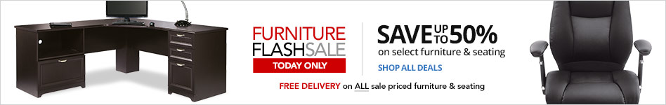 24HR Flash Sale- Save up to 50% on select Furniture & Seating plus FREE Delivery